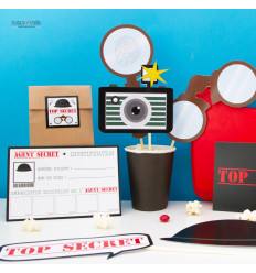 Kit anniversaire Agent Secret