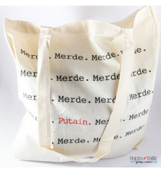 Tote-bag Merde Putain