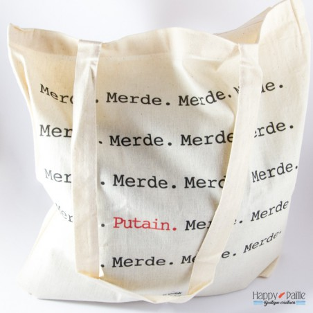 Tote bag Merde Putain