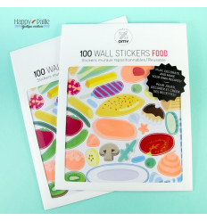 100 stickers Food