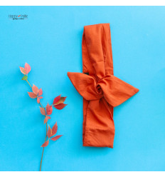 Headband orange brique