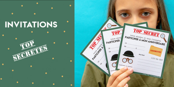 Invitation anniversaire agent secret